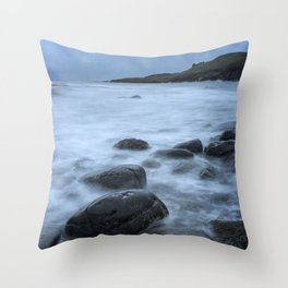 The Castle and the Sea Throw Pillow