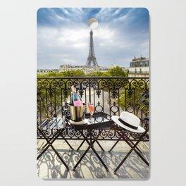 Eiffel Tower Paris Balcony View Cutting Board