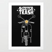 ScooterTrash Art Print