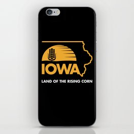 Iowa: Land of the Rising Corn - Black and Gold Edition iPhone Skin