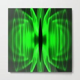Laser light show Metal Print