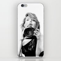 angelina jolie iPhone & iPod Skins featuring Angelina Jolie by Jade Chauvin