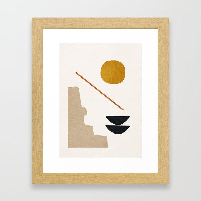 abstract minimal 6 Framed Art Print
