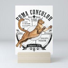 Old School Puma Facts Mini Art Print