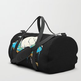 Flat Earth Cat Duffle Bag