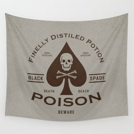 Black Spade Poison Wall Tapestry