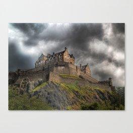 Rain Clouds Over Edinburgh Castle Canvas Print