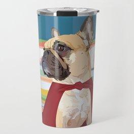 Super Frenchie: French Bulldog in Cape Travel Mug