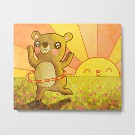 Hula Bear Metal Print