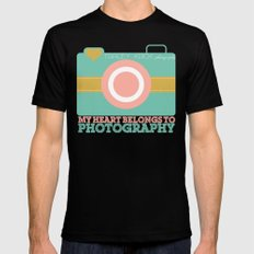 Tracey Krick Photography MEDIUM Mens Fitted Tee Black