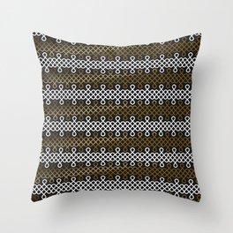Endless Knot pattern - Gold & white Throw Pillow