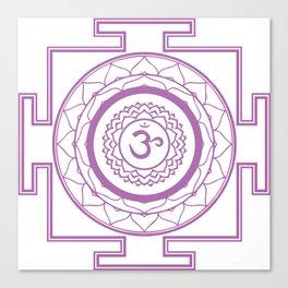 Sri Yantra Crown Chakra Canvas Print