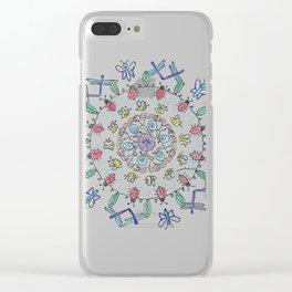 Garden Friends Mandala Clear iPhone Case