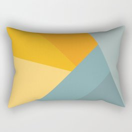 Abstract Mountain Sunrise Rectangular Pillow