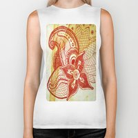 rare Biker Tanks featuring Rare Bloom by SecondLevelPrints