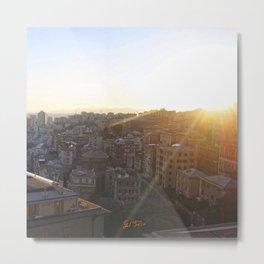 Tramonto a Genova 2 Metal Print