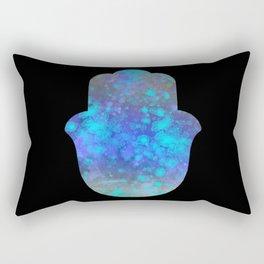 Watercolor Splatter Hamsa Hand Rectangular Pillow