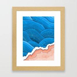 Seaside Beach Framed Art Print