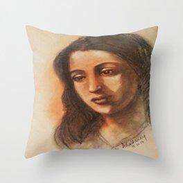 Suchithra Sen - Indian Film Actress Throw Pillow