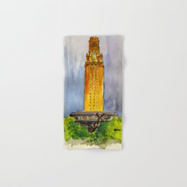 UT Tower - Shines to welcome new students to campus Hand & Bath Towel