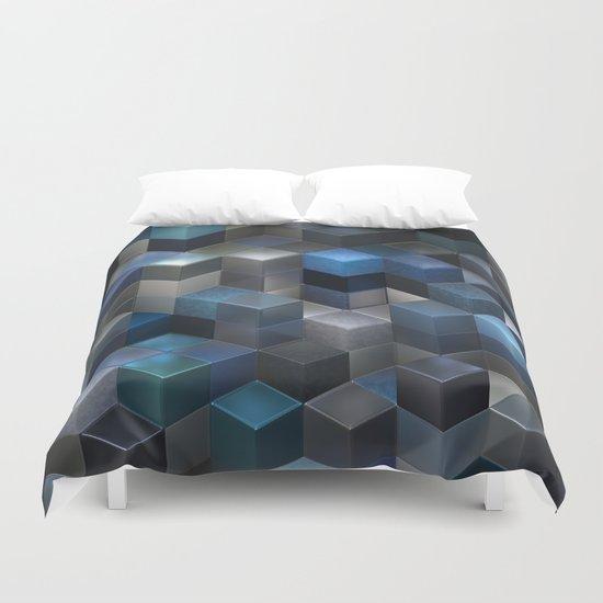 Artistic Cubes 09 blue Duvet Cover