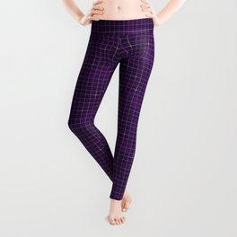 Purple retrowave grid Leggings