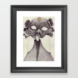 Meeting With Beksinski Framed Art Print