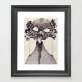 Meeting With Beksinski Framed Art Print