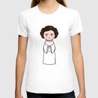 leia T-shirts featuring Kokeshi Leia  by Pendientera