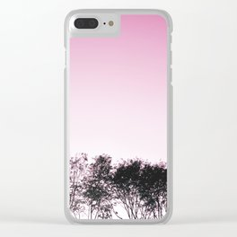 Lovely pink sky Clear iPhone Case