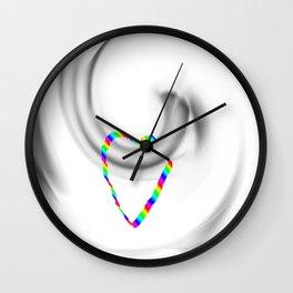 Hook heart Wall Clock