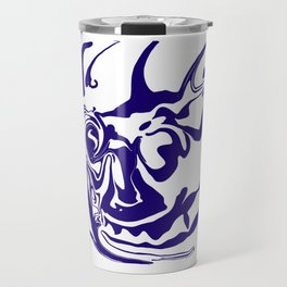 face8 blue Travel Mug