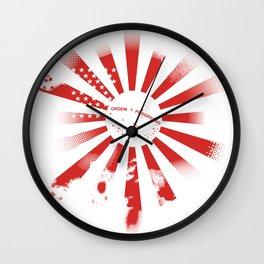 3 Flag Blend Wall Clock