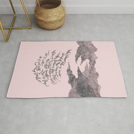It Is Well With My Soul -pink&grey Rug