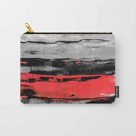 black & red Carry-All Pouch