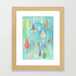 Pale Raindrops Framed Art Print