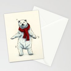The polar bears wish you a Merry Christmas Stationery Cards