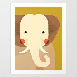 Elephant, Animal Portrait Art Print