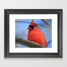 The Cardinal Portrait Framed Art Print