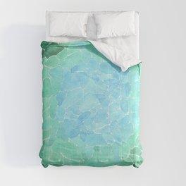Abstract Sea Glass Comforters