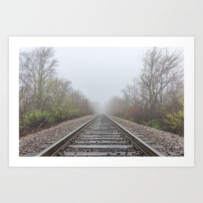Spring time railroad tracks Art Print