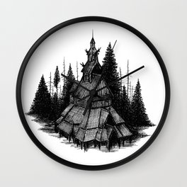 Fantoft Stave Church Wall Clock