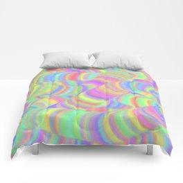 pastel worms Comforters