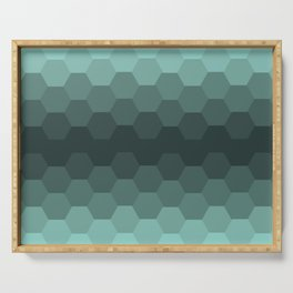Teal Mint Honeycomb Serving Tray