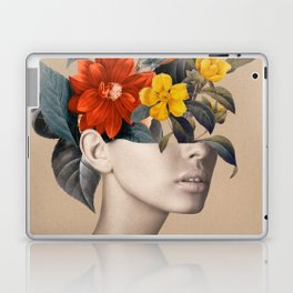 woman with flowers 8 Laptop & iPad Skin