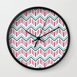 Jeweltoned Chevron Geometric Wall Clock