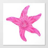 hawaiian Canvas Prints featuring Hawaiian Starfish by Teresa Chipperfield Studios