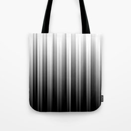 Black And White Soft Blurred Vertical Lines - Ombre Abstract Blurred Design Tote Bag