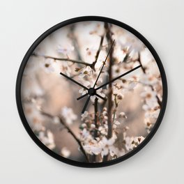Cherry Flowers Wall Clock