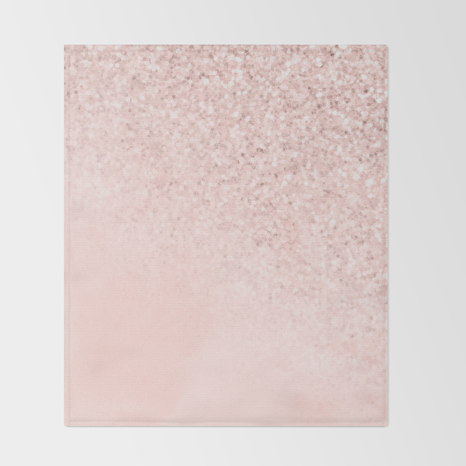 She Sparkles Rose Gold Pastel Light Pink Luxe Throw Blanket